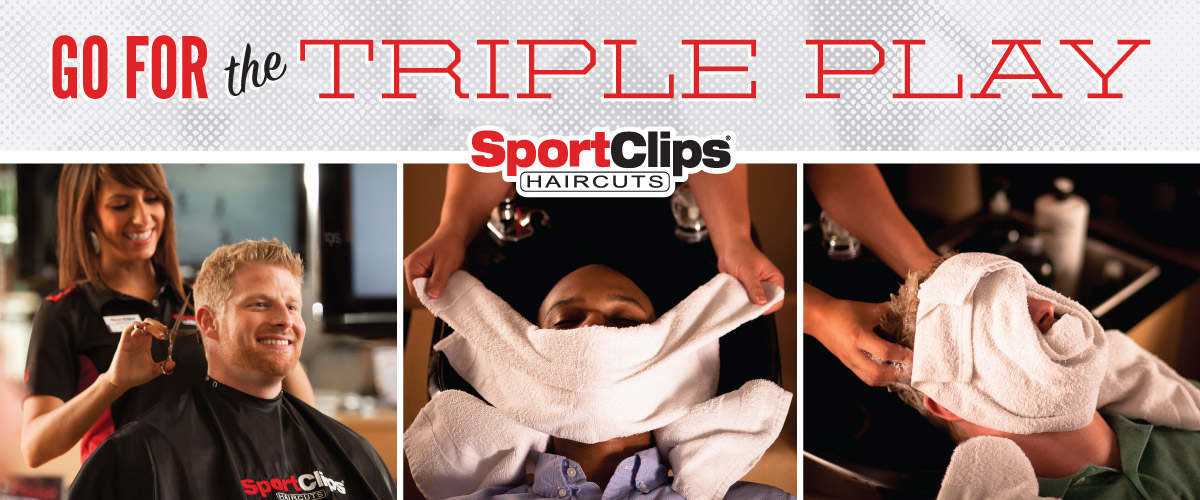 The Sport Clips Haircuts of Blue Ash Triple Play